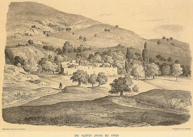 μοναστηρι Καισαριανης γκραβουρα